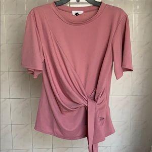 Thyme & Honey Pink Wrap Blouse - Medium